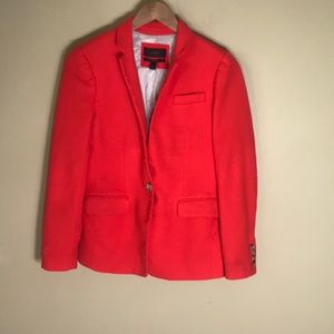 J crew orange wool Regent blazer